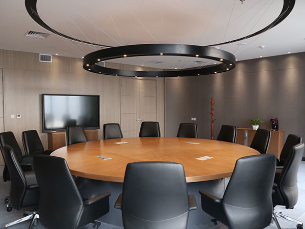 Round table meeting room