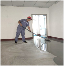 Gypsum self-leveling