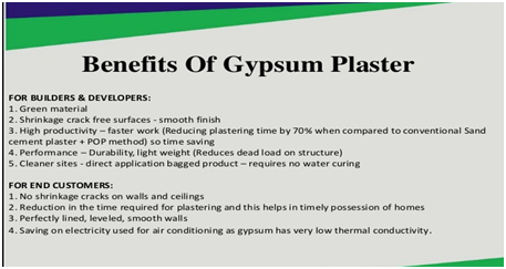 Benefits of gypsum plaster